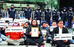 不滿UBER遭重罰和勒令歇業,台灣UBER司機10日發起抗議活動