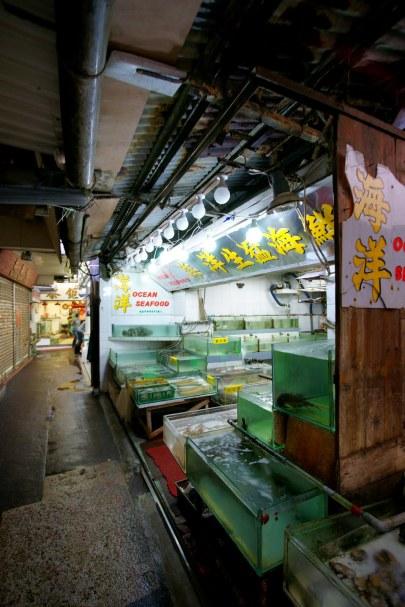 海鮮檔供選購海鮮。