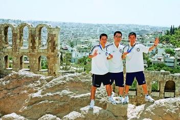 高禮澤在2004年參加完奧運會後,在雅典旅遊途中