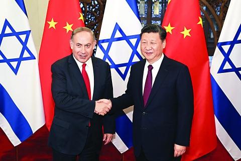 中國國家主席習近平在北京會見以色列總理內塔尼亞胡