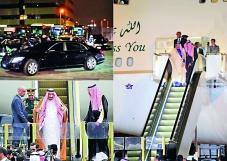 沙特國王薩勒曼的亞洲訪問之旅排場奢華,下機時還自備鍍金自動扶手電梯