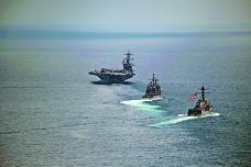 「卡爾文森」號航母戰鬥群14日在印度洋行駛