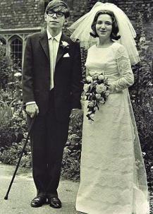 ▲霍金與首任妻子簡相伴近30年後離異