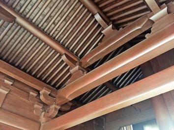 ▲傳統榫接建築法,毋須使用釘子