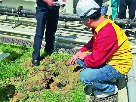 ▲何華漢指,完成移除泥土後將再安排做去水工程