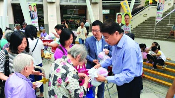 ▲楊育城熱心公益,積極參與義務工作