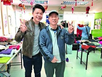 ▲陳卓祺與區議員合辦贈衣活動,讓有需要人士獲得合適衣物