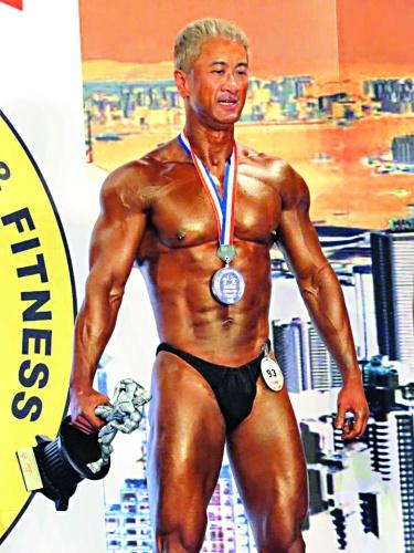 ▲Calvin熱愛運動,在健美賽事中曾多次獲獎