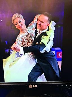 ▲熱心跳舞的趙鳳儀2015年在俄羅斯參加比賽