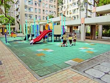 ▲屋苑內兒童遊樂場可供小朋友玩樂